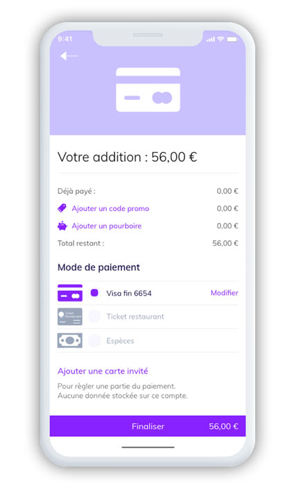 application covid mobile paiement restaurant