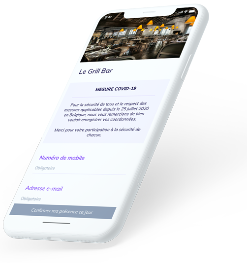 application mobile covid restaurant